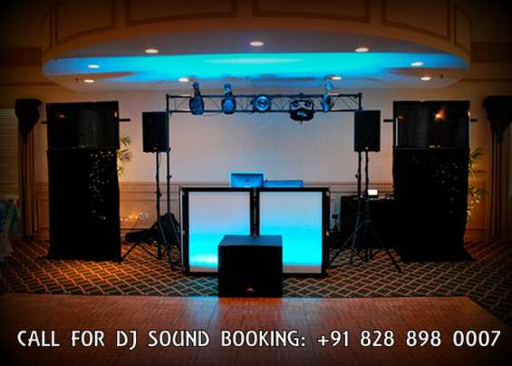 Dj equipments lightening live bands available in zirkpur ambala chd. call amy events