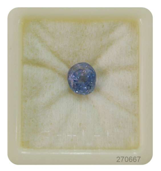 Certified blue sapphire gemstone for rings and pendants
