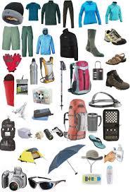 Trekking equipments products