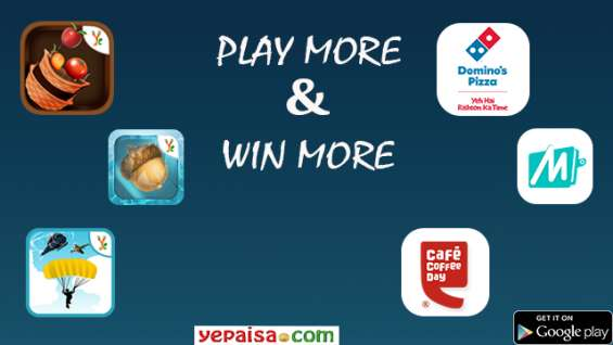Play games online | redeem point free recharge shopping food coupons - yepaisa