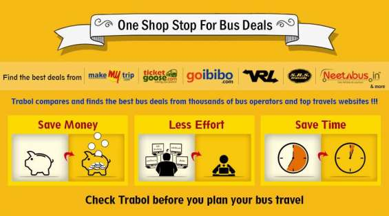 Book bus tickets online, compare bus fares, online bus ticket booking