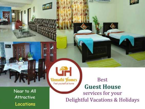 Guest houses in hyderabad along with accommodation & homely food