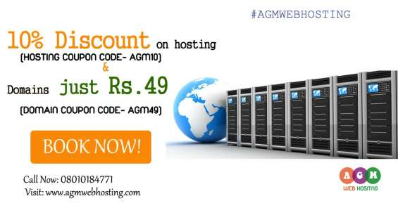 Special offer on hosting and domain just rs. 49