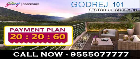 Godrej 101 sector 79 @ 9555077777