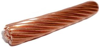 Bare copper wire for various industrial and grounding applications