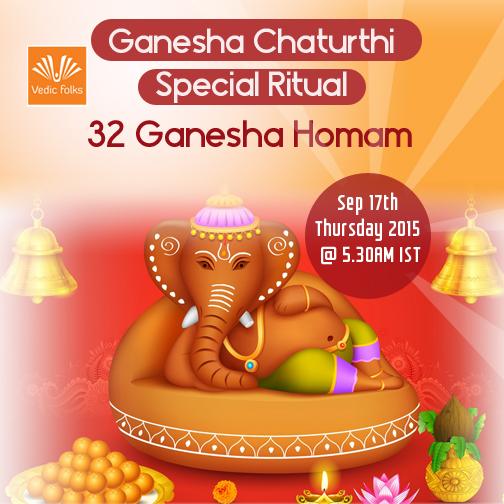 Ganesha chaturthi special ritual – 32 ganesha homam