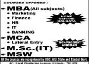 DIRECT ADMISSION MBA/ MCA/ MCOM/ MA EXAM CENTER: CALCUTTA, WEST BENGAL..