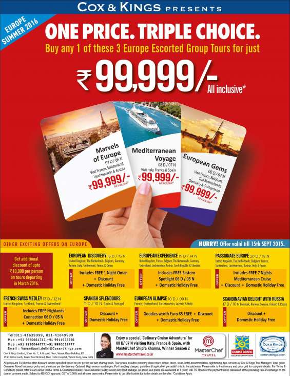 Europe Tour Packages From India