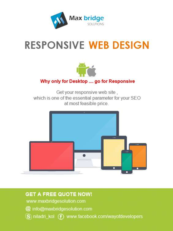 Get your responsive website  developed at most feasible price!