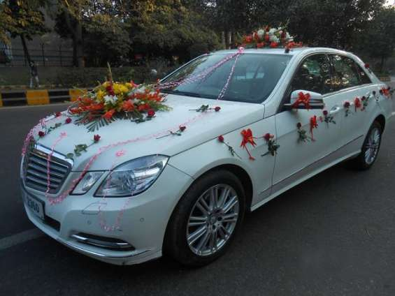 Mercedes e - class with decoration