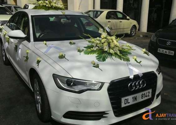 Audi a6 with decoration