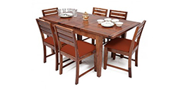 Get extendable dining table online - wooden street