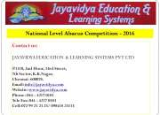 National Level Abacus Competition – www.jayavidya.com