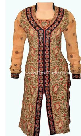 Designer rust colour kurti