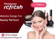 Low cost beauty salon websites