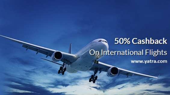 Special 50% flat ecash on international flights
