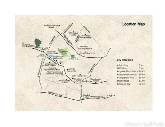 Brigade meadows location map