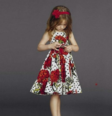 Floral flounce frock at foreverkidz