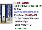 Curtains,iliv blue kolveri flower curtain - 7ft, iliv purple v curtain - 7ft, brown color