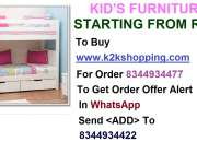 Kids Furniture, Bunk Bed SEW2, Crazeis New Kids Sofa Cum Bed, Folding Kids Almirah