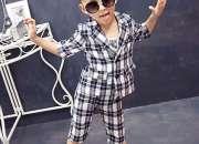 Little boy check fashion set