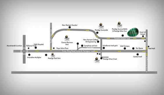 Prestige jade pavilion location map