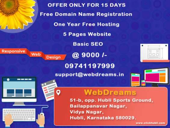 Hey, have you tried looking for website design offers?