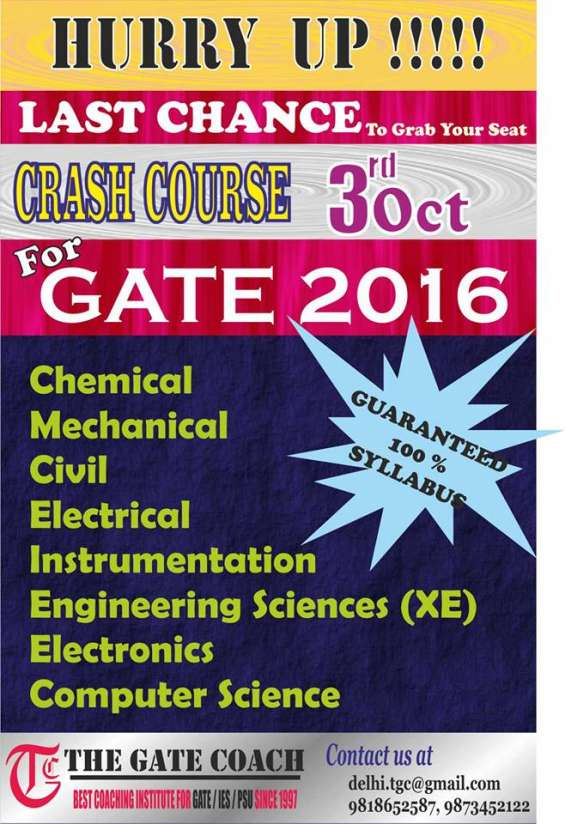 Gate 2016 crash course for civil engineering