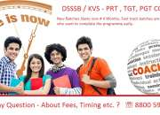 DSSSB-PRT, TGT, PGT, Coaching Centre in Saket, Delhi