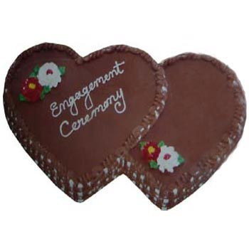 Hearshaped cake to show your true love