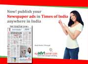 Obituary advertisement in any newspapers in delhi…