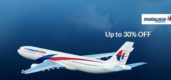 Up to 30% discount on malaysian airline ticket