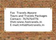 Taxi for hire in mysore fox travels 9972366694/7676764776
