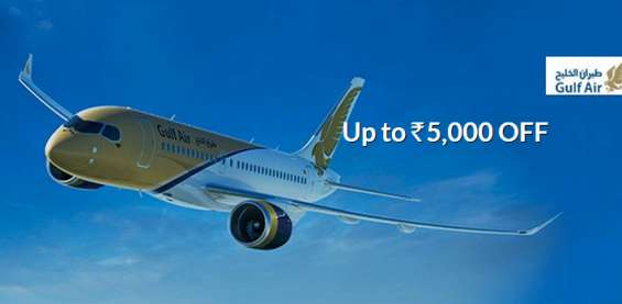 Flat 5% discount on gulf air ticket booking
