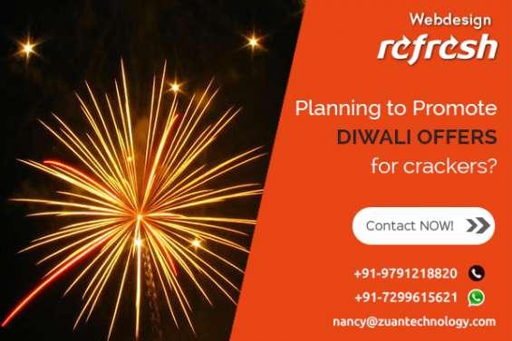 Reg: grand diwali offer for website design - crackers