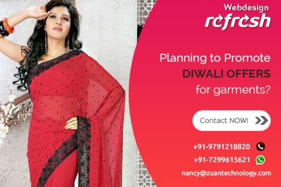 Reg: grand diwali offer for website design - garments
