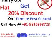 Get 20% off on odorless termite pest control services in Gurgaon