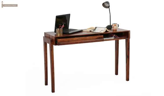 Study table made of solid wood -wooden street