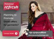 Reg: Bumper Diwali offer for Website design - GARMENTS