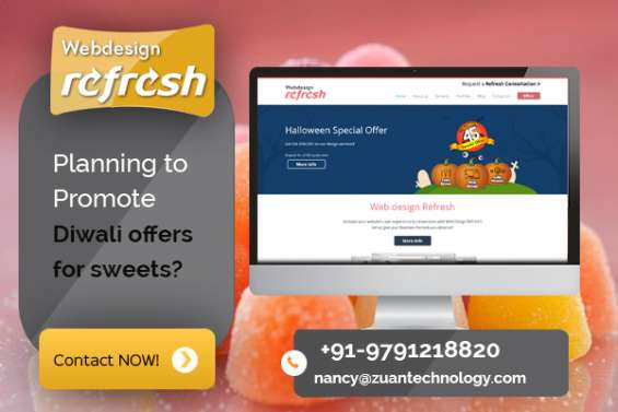 Reg: bumper diwali offer for website design - sweet shop