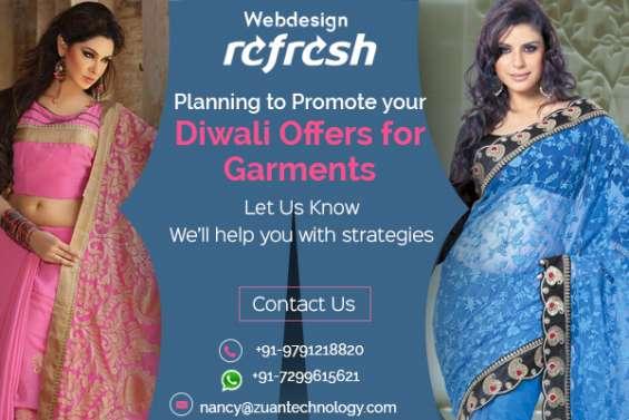 Reg: crackling diwali offer for website design - garments