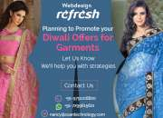 Reg: Crackling Diwali offer for Website design - GARMENTS