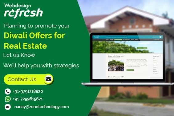 Reg: crackling diwali offer for website design - real estate