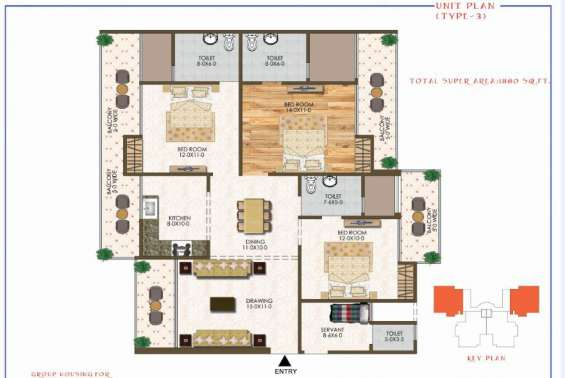 Pictures of Ultra luxury 3,4 bhk apartments in noida 2