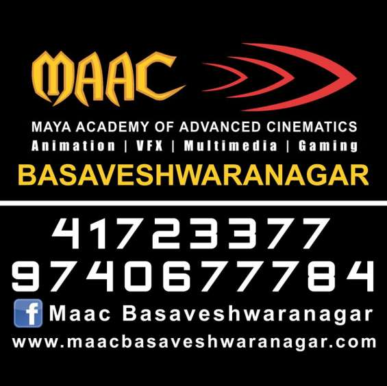 If you are seeking to make a career in a creative field then join maac basaveshawrnagar