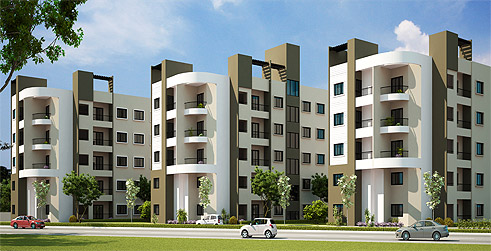 3 bhk 43l ready to move apartment in e-city phase 2