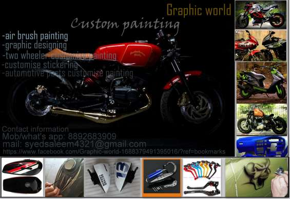 Customize painting, air brushing, sticker designing
