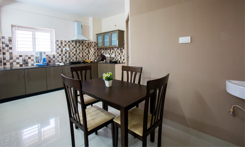 Fully furnished service apartments
