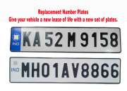 Radium number plate for cars