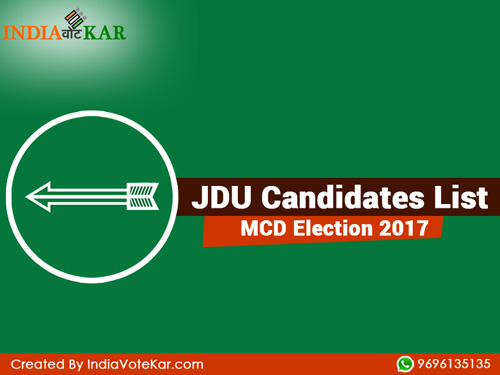 Jdu candidates list mcd election 2017